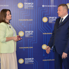 Алена Звягина и Александр Никитин (Фото: РБК Черноземье)