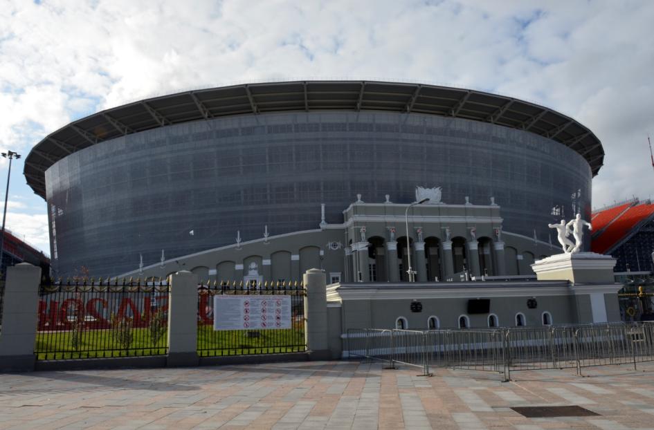Hörmann в Екатеринбурге: «Екатеринбург-арена». Внутренние стальные двери, секционные ворота