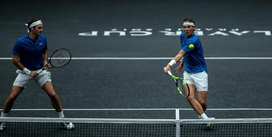 Федерер и Надаль впервые сыграли совместный матч в паре