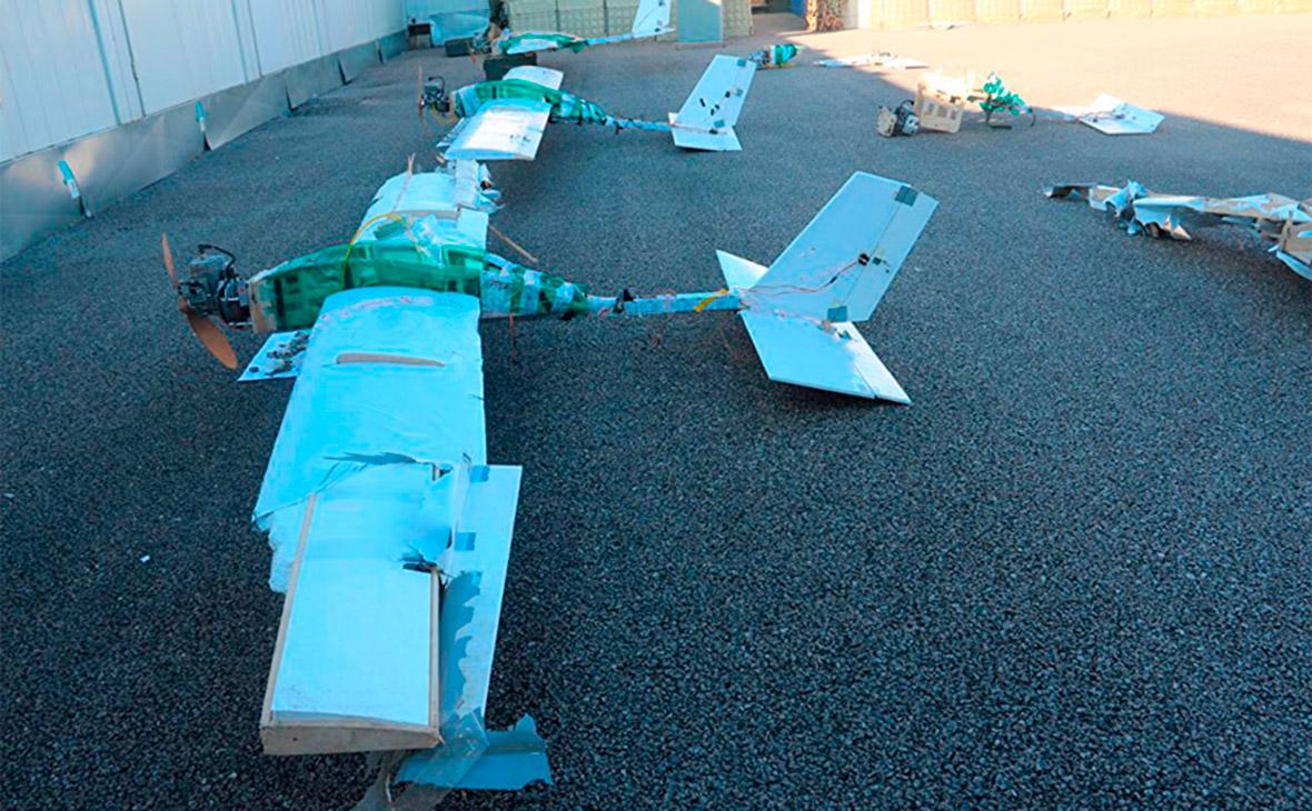 Минобороны показало удар по принадлежащему боевикам складу дронов в Сирии