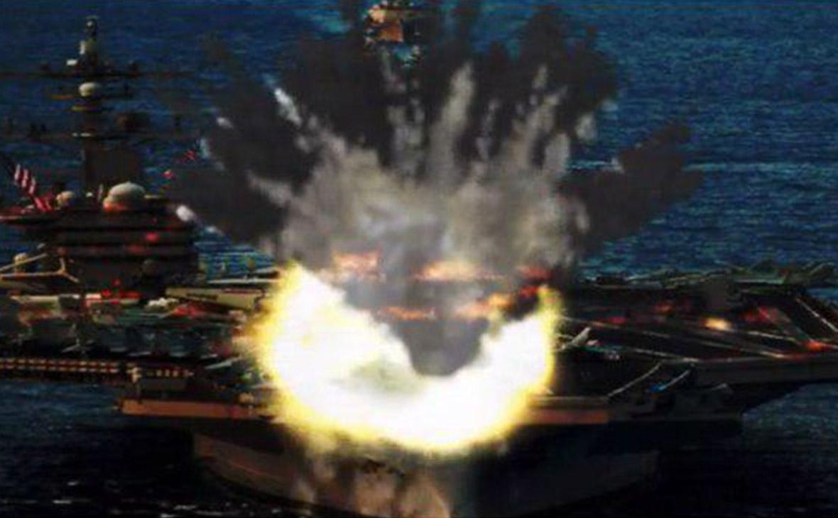 Ракеты КНДР на видео «уничтожили» авианосец и самолеты ВВС США