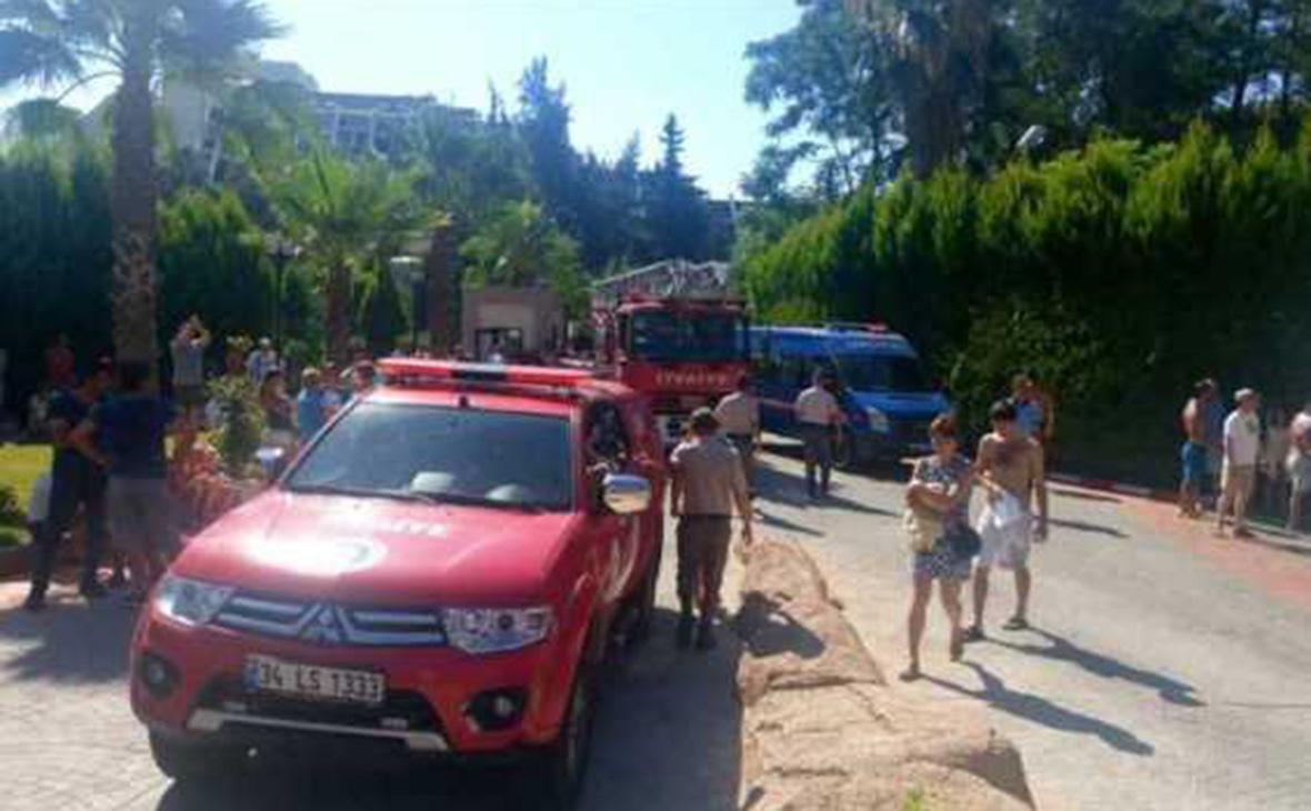 При пожаре в пятизвездочном отеле в Турции пострадали россияне