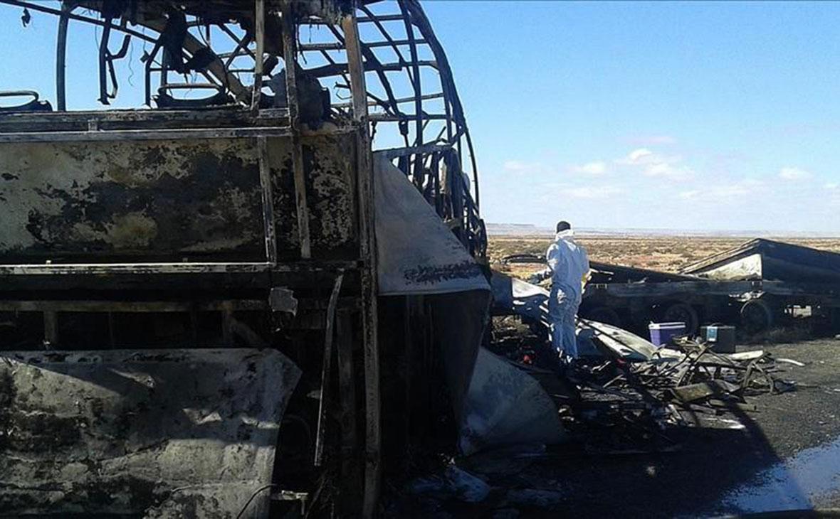 Причиной гибели 52 человек при пожаре автобуса стала паяльная лампа