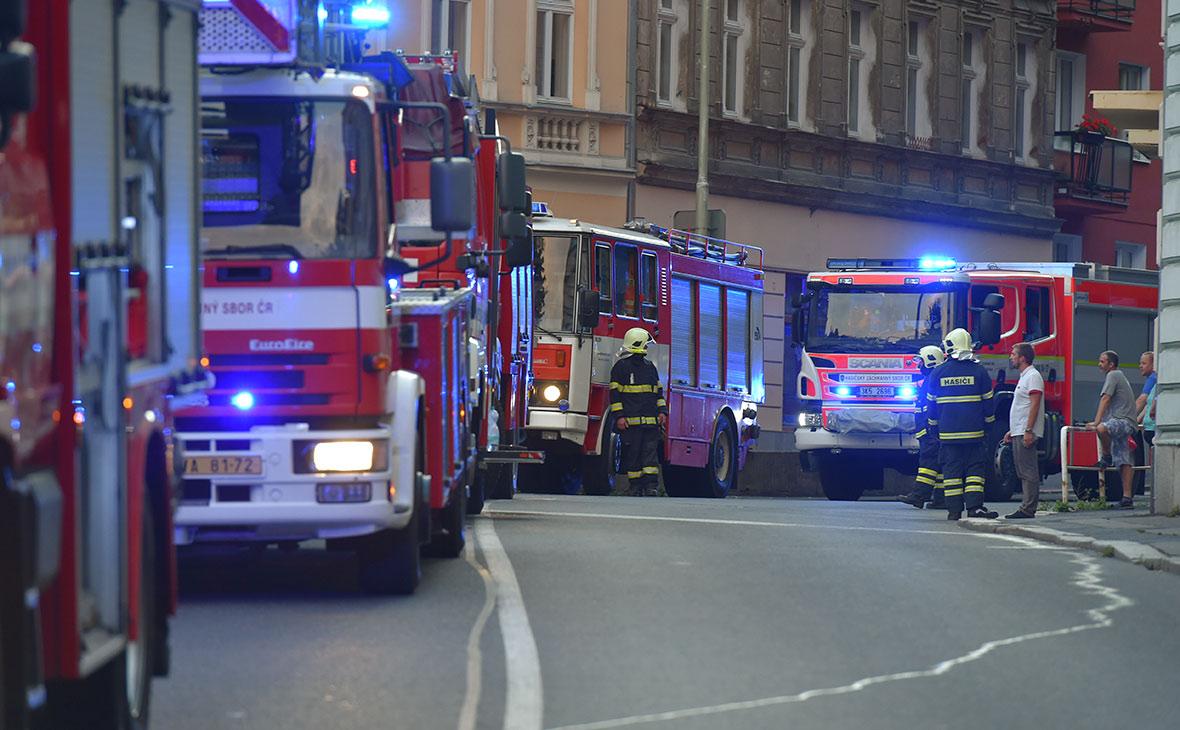 В центре Праги загорелась гостиница