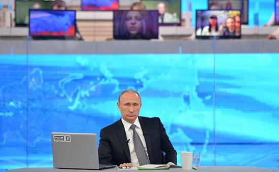 Прямая линия с президентом пройдет после Дня России
