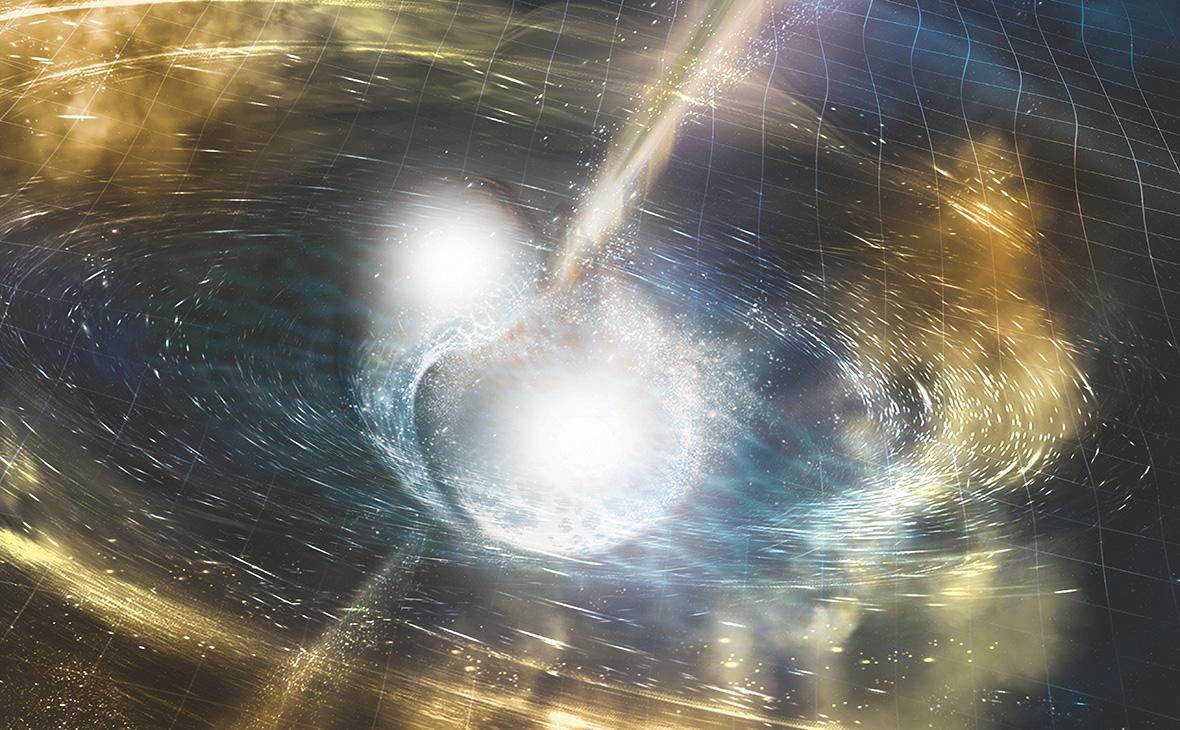 Ученые зафиксировали гравитационные волны при столкновении двух звезд