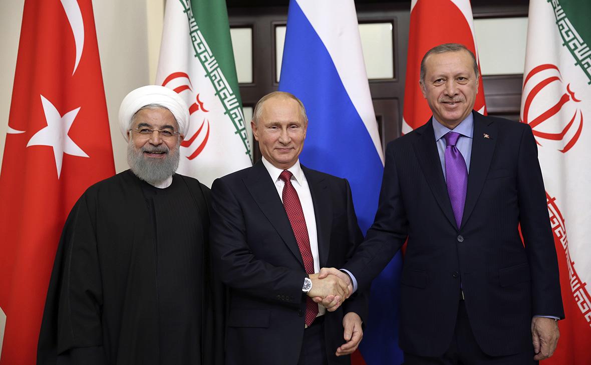«Тройка» в Сочи: о каком мире в Сирии договорились Россия, Турция и Иран