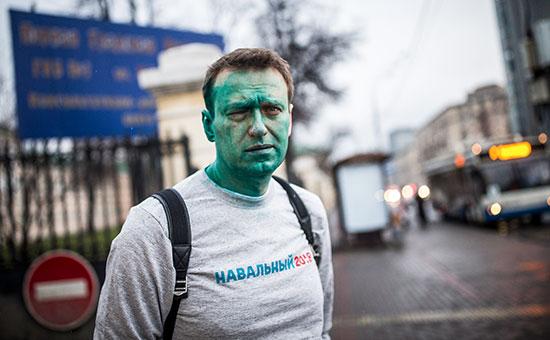 Полиция начала проверку нападения наНавального вМоскве