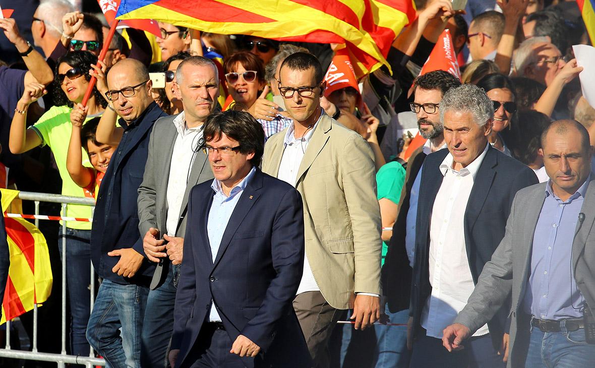 В Барселоне началась демонстрация в поддержку независимости Каталонии