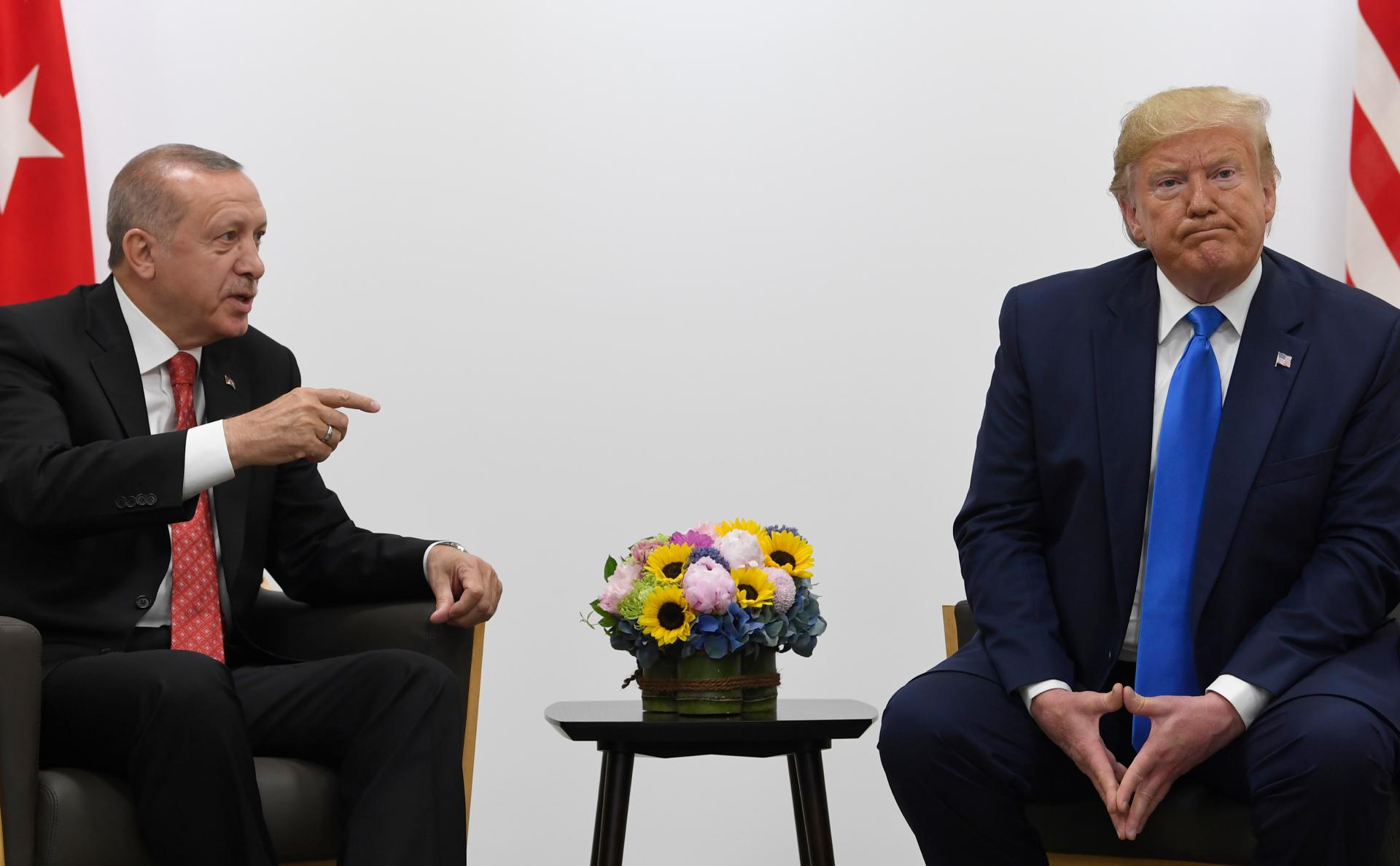 Трамп потребовал от Эрдогана прекратить огонь в Сирии
