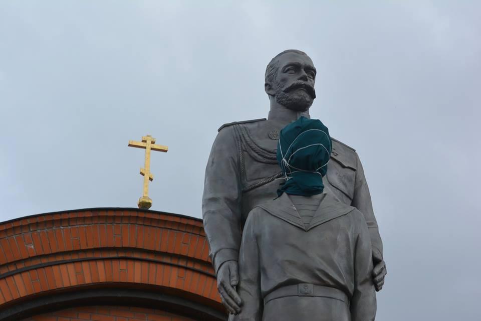 Новосибирская епархия нашла вину СМИ в осквернении памятника Николаю II