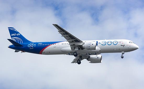 Новый российский пассажирский лайнер МС-21 совершил первый пробный полет