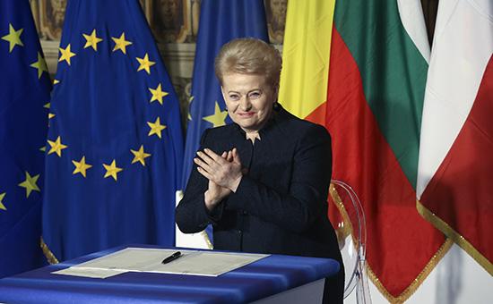 Президент Литвы назвала Россию «угрозой» дляЕвропы
