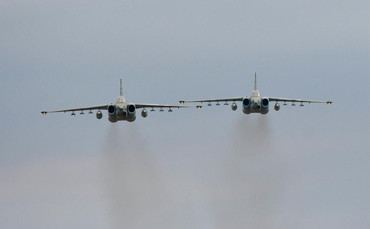 В Пентагоне рассказали о перехвате российских Су-25 американскими F-22