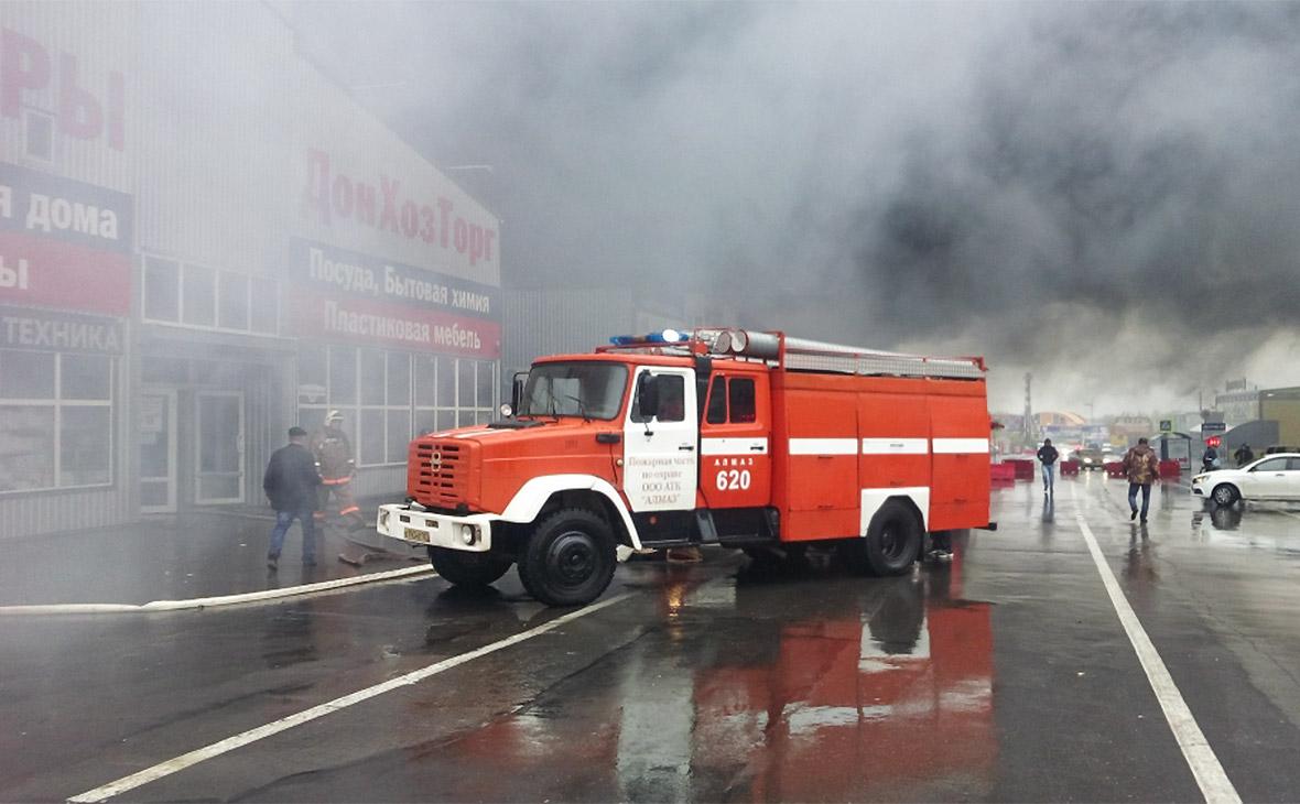 На хозяйственном рынке под Ростовом-на-Дону произошел крупный пожар