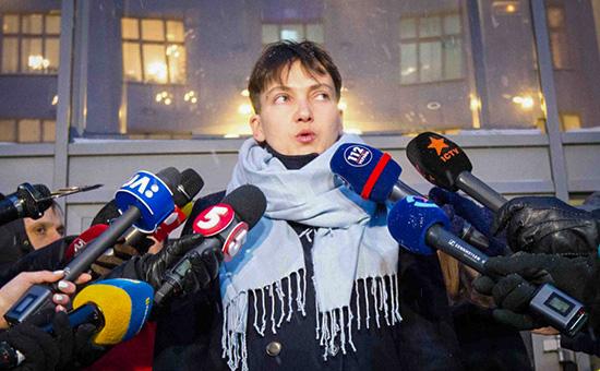 Савченко приехала вДНР впервые послеосвобождения из России