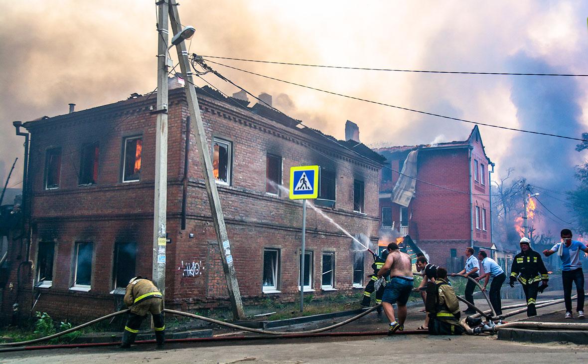 Число сгоревших в Ростове-на-Дону жилых домов увеличилось почти втрое