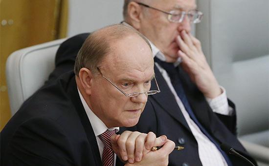 Зюганов иЖириновский выступили сзаявлениями обубийстве Вороненкова