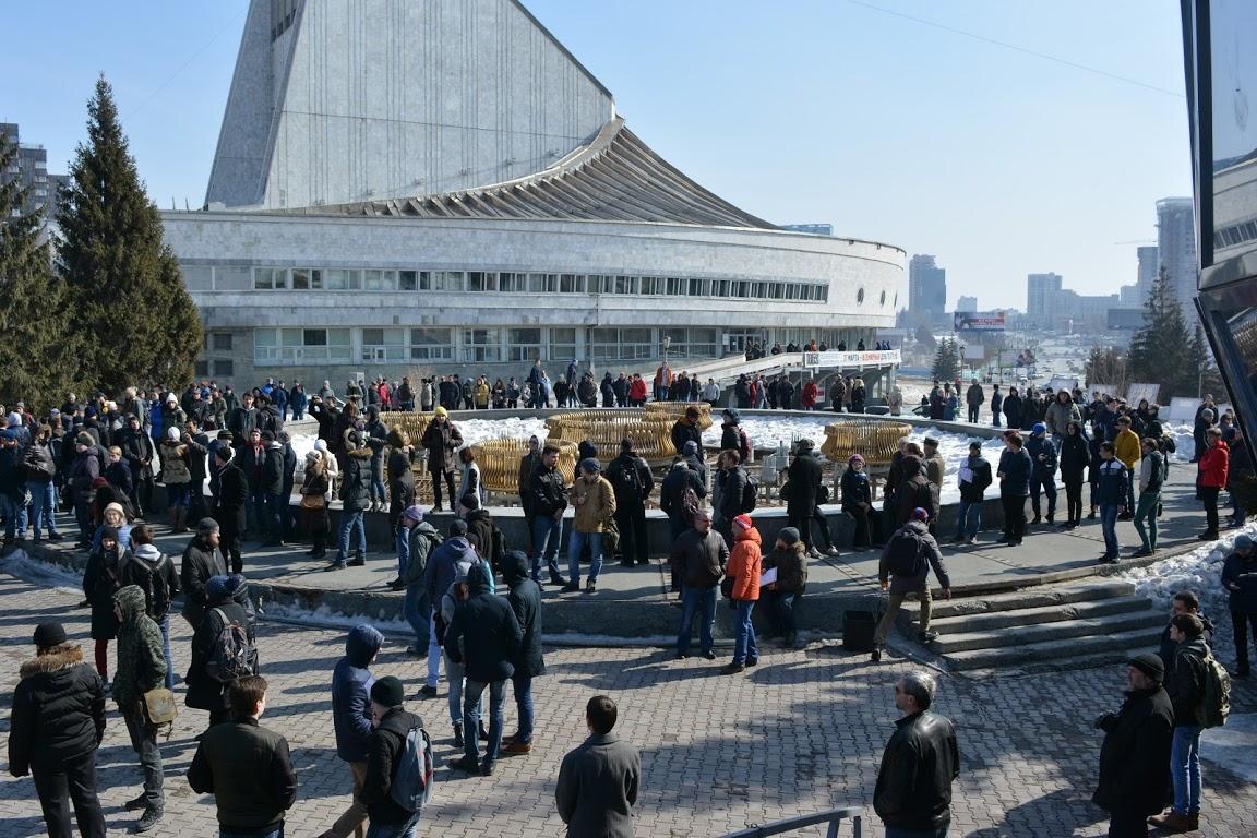 Репортаж: В Новосибирске прошел митинг штаба Навального против коррупции
