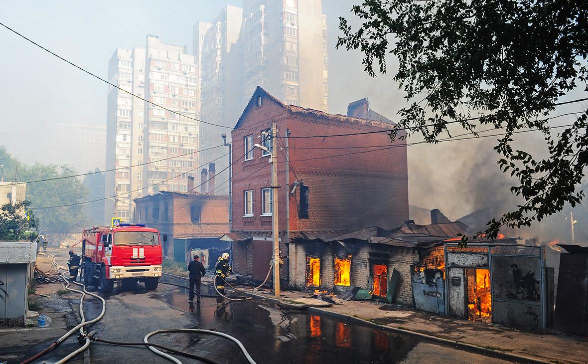 Число пострадавших от пожара в Ростове-на-Дону достигло 45 человек