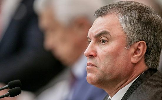 Володин раскритиковал правительство задистанцирование отспорных законов