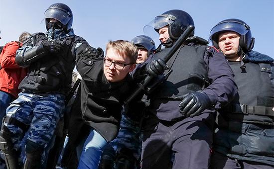 В Москве задержали десятки человек наантикоррупционной акции