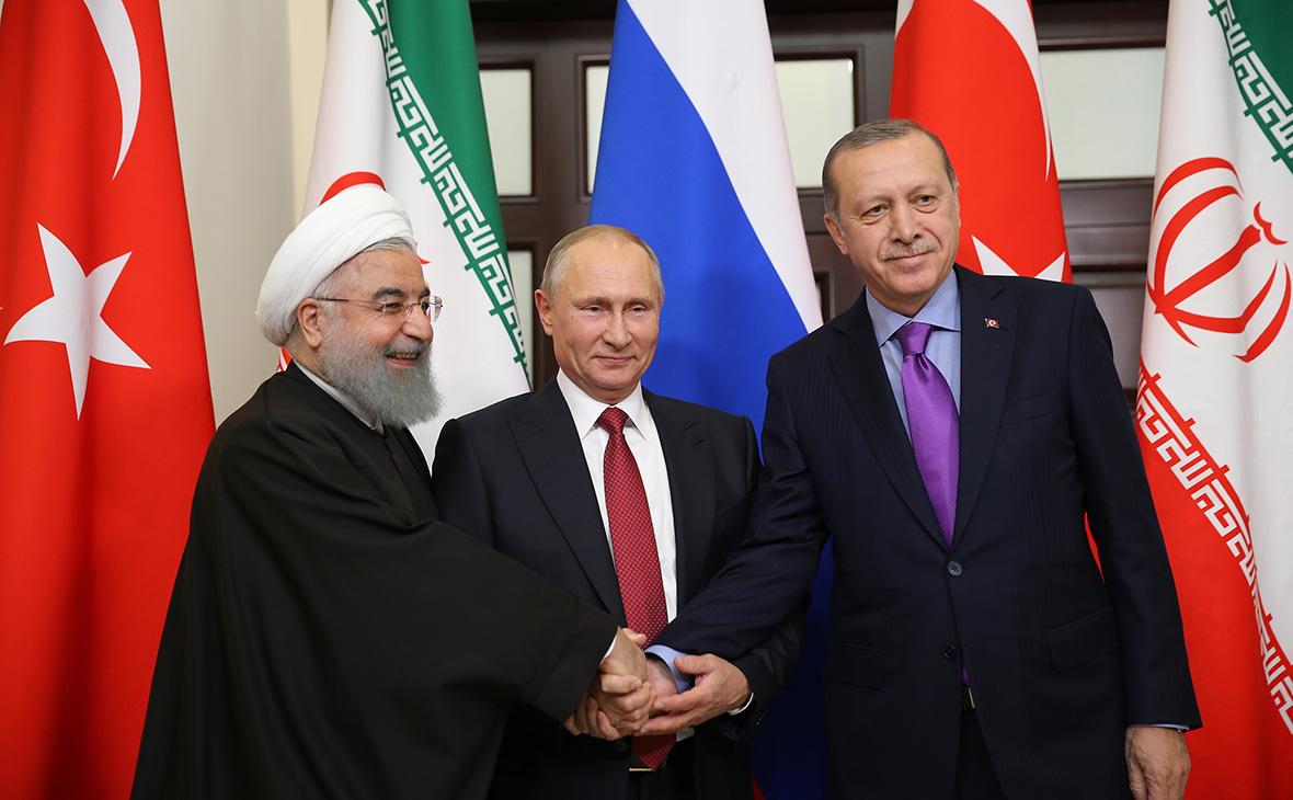 Путин отметил роль России, Турции и Ирана в предотвращении распада Сирии