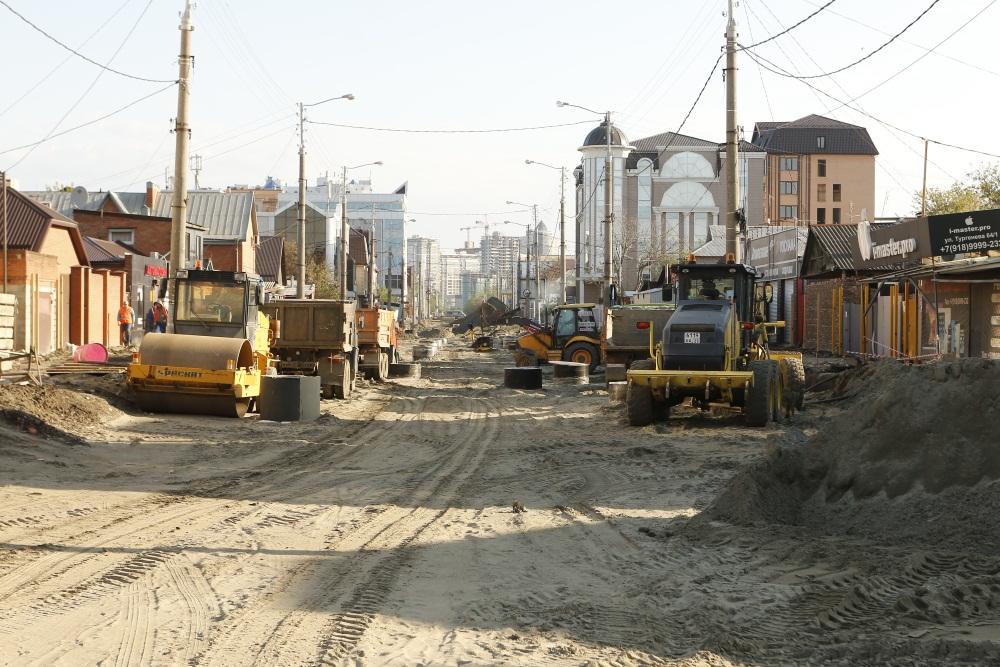 Капремонт улицы Тургенева в Краснодаре продлили до октября 2018 года
