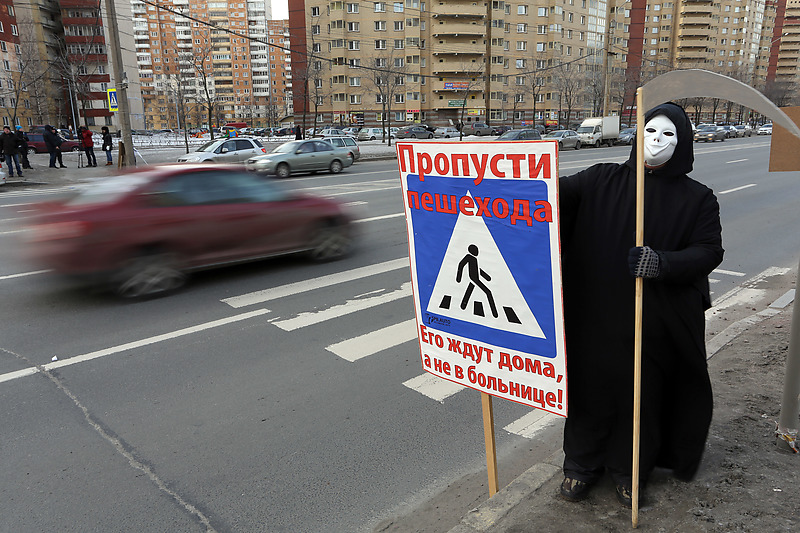В Петербурге выросло число смертельных ДТП с пешеходами