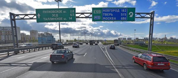 На юге КАД ограничено движение транспорта