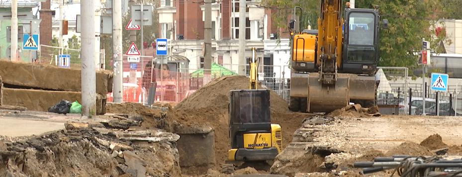 В Перми перекрыли улицу Монастырскую из-за работ на теплосетях