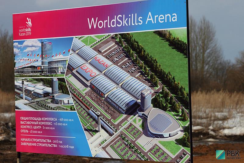 На строительство арены WorldSkills-2019 направлено более 1 тыс. рабочих