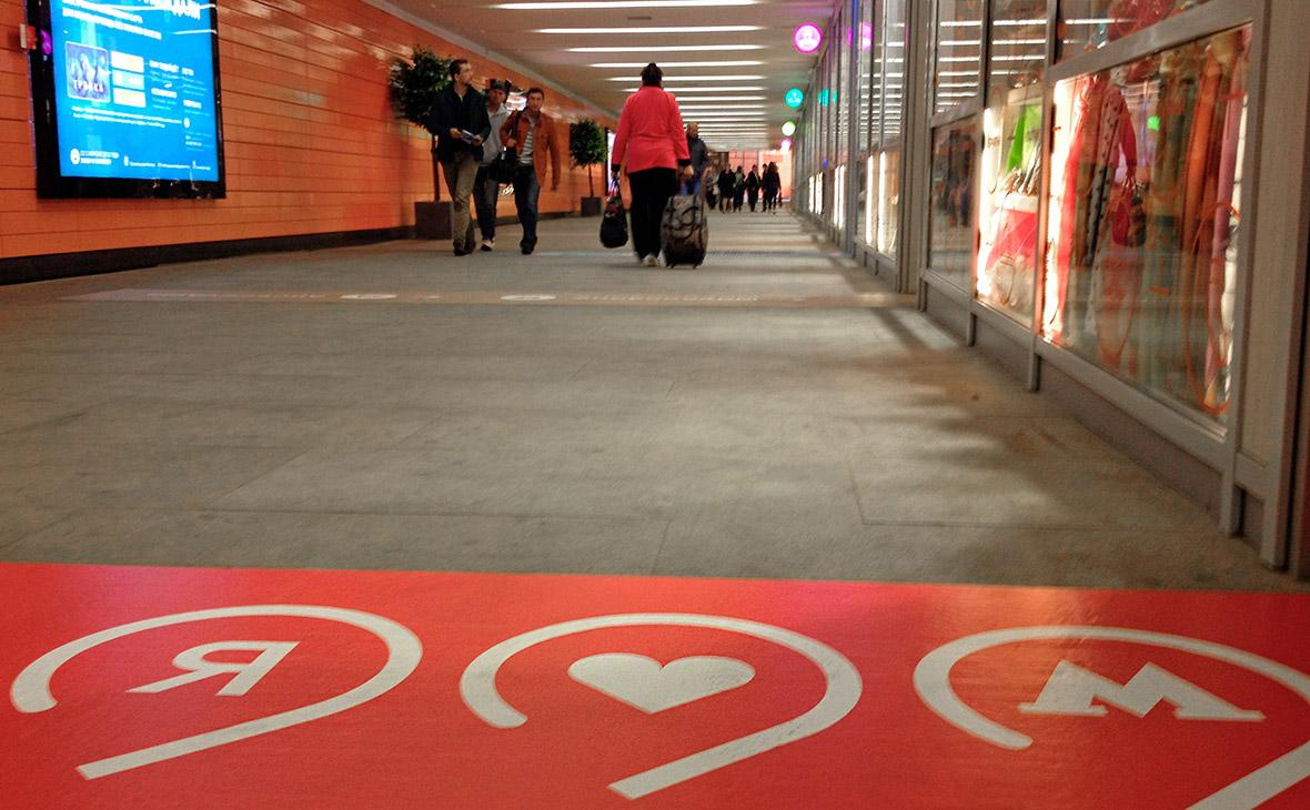 Объем торговых площадей в переходах и метро сократился в 2,7 раза