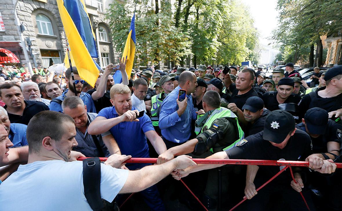 В Киеве сторонники Саакашвили подрались с полицией