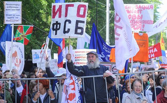 Столичные митинги противреновации собрали ввыходные 6тыс. человек