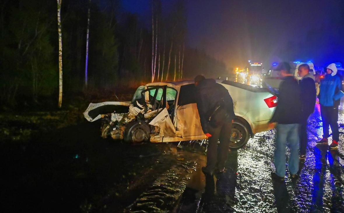 Водители двух иномарок погибли в ДТП в Ленинградской области