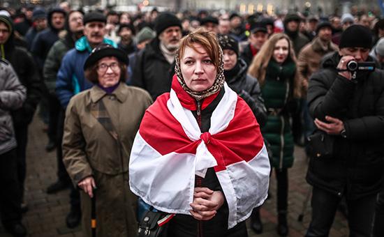 В Минске оппозиция вышла на марш против декрета о тунеядстве
