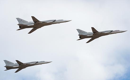 Российские бомбардировщики Ту-22МЗ нанесли удары поскладам ИГИЛ вСирии