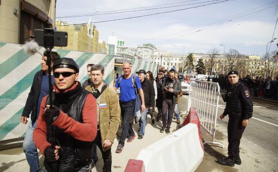 В центре Москвы прошла акция протеста «Открытой России»