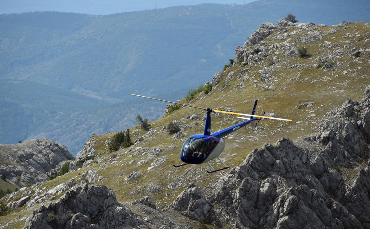 Вертолет Robinson потерпел крушение на Черноморском побережье