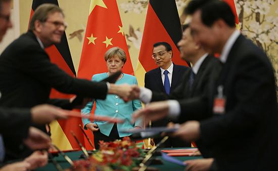 Китай впервые вистории стал важнейшим торговым партнером Германии