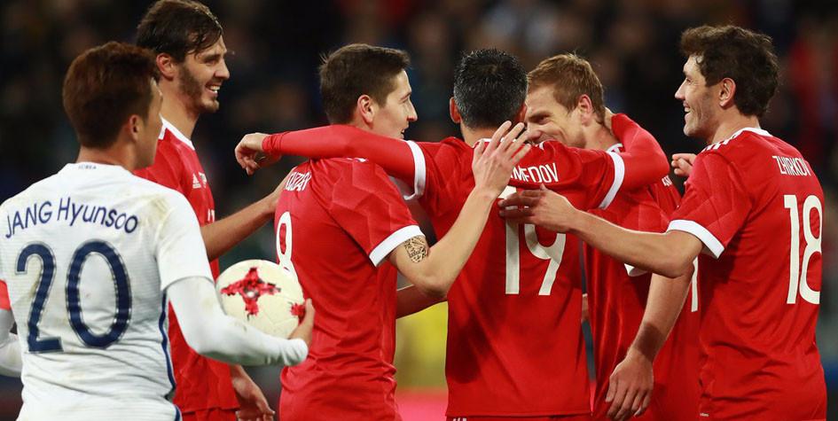 Россия и Южная Корея забили шесть голов на двоих в товарищеском матче