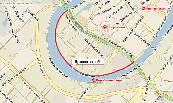 Москва, ул фрунзенская 3-