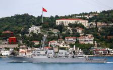 <p>Эсминец«Портер»на пути к Черному морю в Стамбуле, Турция.6 июня 2016 года</p>  <p></p>