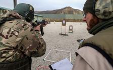 <p>Занятиепо стрелковой подготовке на базе Международного центра Сил специального назначения в Гудермесе. 17 ноября 2016 года</p>  <p></p>