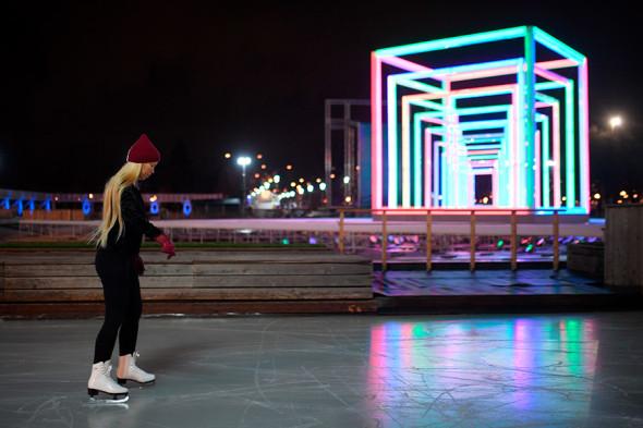 Парк горького на новый год 2018