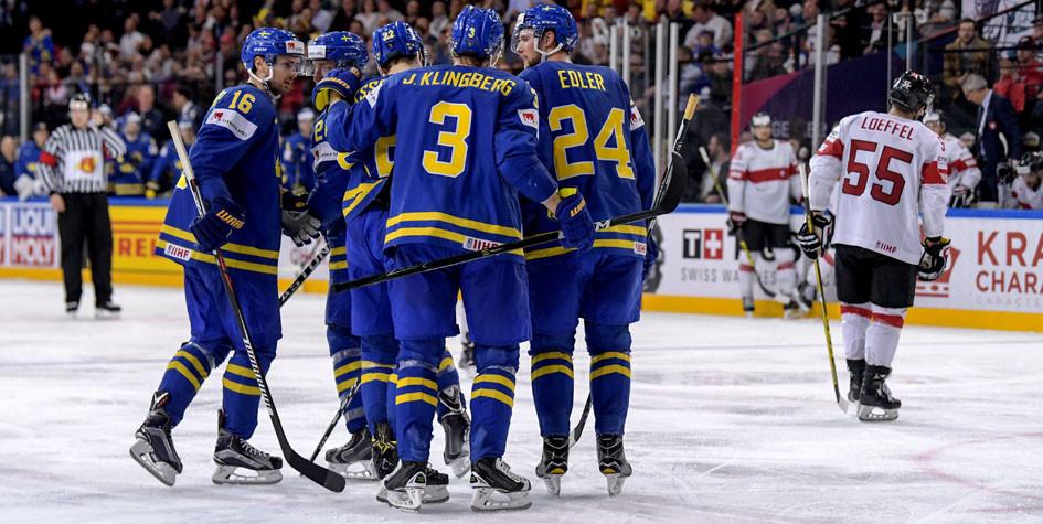 Сборная Швеции вышла вполуфинал Чемпионата мира похоккею 2017 года