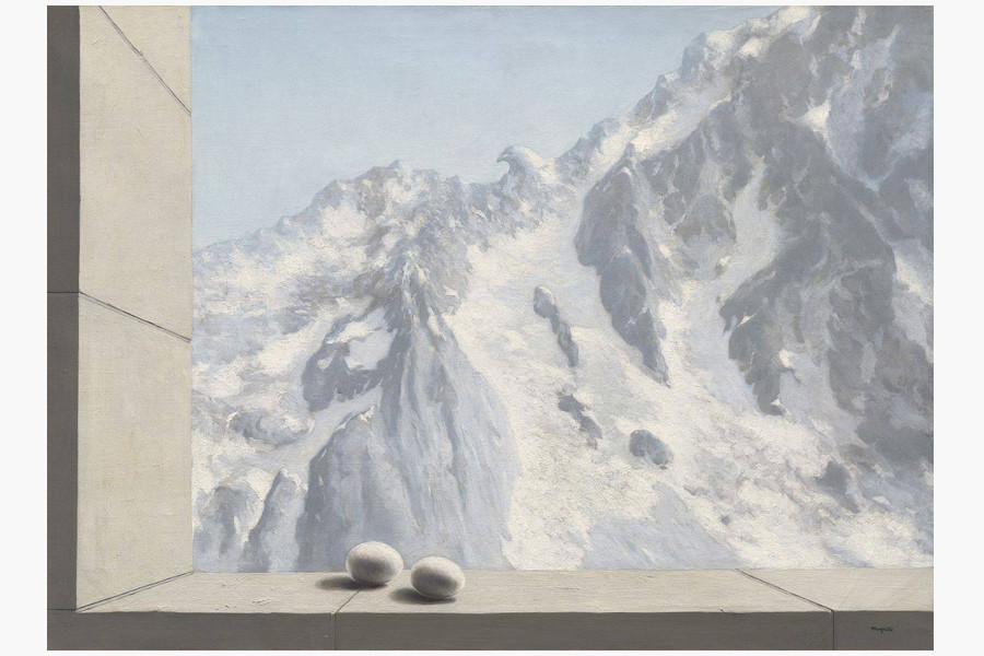 Картина Рене Магритта «Область Арнхейм» Фото: Christies