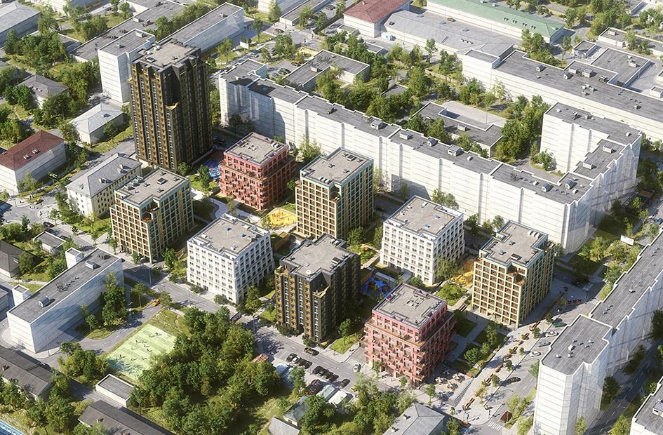 Вид проекта в масштабе городской застройки