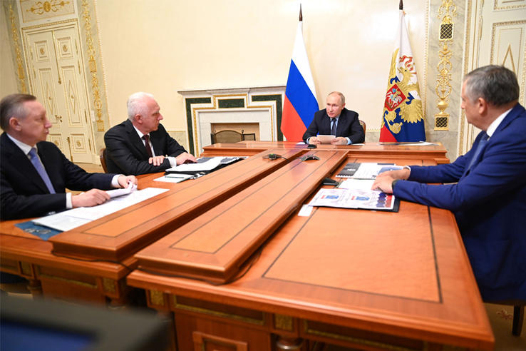 Совещание у президента России Владимира Путина